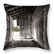 Interiors In Black And White Throw Pillow