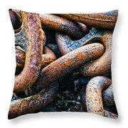 Interlocked Throw Pillow by Christi Kraft