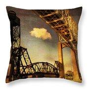 International Bridge To Canada Throw Pillow