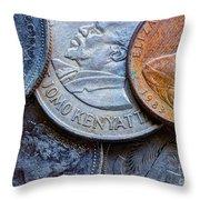 International Coins Throw Pillow
