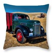 International Farm Truck Throw Pillow