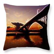 International Peace Bridge Throw Pillow