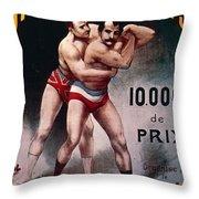 International Wrestling Championship Throw Pillow