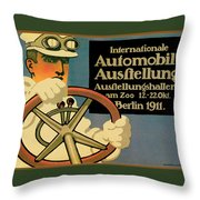 Internationale Automobile Ausftellung Throw Pillow