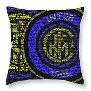 Internazionale Typography Poster Throw Pillow