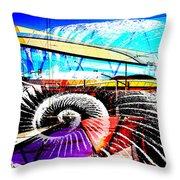 Interstate 10- Cushing St Overpass- Rectangle Remix Throw Pillow