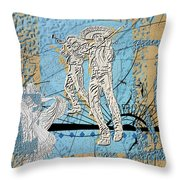 Interstate 10- Exit 254- Prince Rd Overpass- Rectangle Remix Throw Pillow