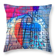 Interstate 10- Exit 255- Miracle Mile Overpass- Rectangle Remix Throw Pillow