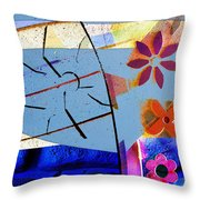 Interstate 10- Exit 256- Grant Rd Underpass- Rectangle Remix Throw Pillow