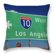 Interstate 10 Highway Signs Throw Pillow