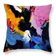 Interstellar Graffiti Throw Pillow