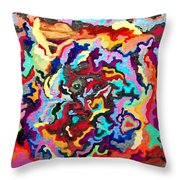 Intertwined Rainbow Throw Pillow