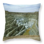 Inti Raymi Gold Mine Quarry In Oruro Throw Pillow