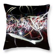 Into Chaos One Last Time...light Painting Throw Pillow