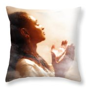 Into His Glory Throw Pillow