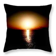 Into Sunset Throw Pillow