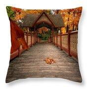 Into The Autumn Throw Pillow