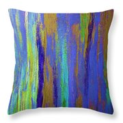 Into The Blue Abstract 2 Throw Pillow