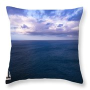 Into The Blues Throw Pillow