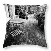 Into The Courtyard Throw Pillow