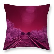 Into The Darkness Of Light Throw Pillow