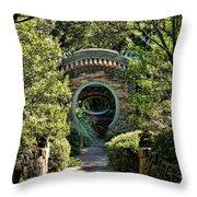 Into The Enchanted Garden Throw Pillow