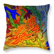 Into The Flames Of Hell Throw Pillow