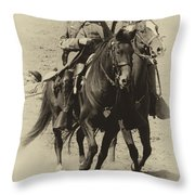 Into The Fray - Confederate Generals Throw Pillow