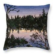 Into The Gloaming Throw Pillow