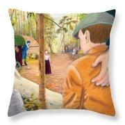 Into The Hidden Camp Throw Pillow