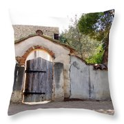 Into The Light, Mission San Miguel Archangel, California Throw Pillow