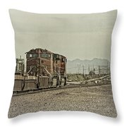 Into The Mojave Throw Pillow