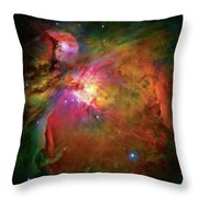 Into The Orion Nebula Throw Pillow by Jennifer Rondinelli Reilly - Fine Art Photography