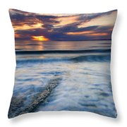 Into The Sea Throw Pillow by Mike  Dawson