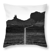 Into The Valley Of Monuments Throw Pillow