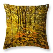 Into The Woods We Go  Throw Pillow