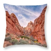 Into Valley Of Fire Throw Pillow