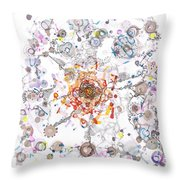 Intracellular Diversion Throw Pillow
