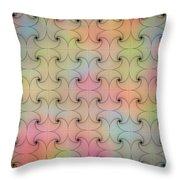 Intricacy Digital Seamless Design Throw Pillow