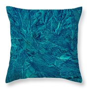 Intricate Blue Throw Pillow