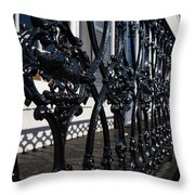 Intricate Georgetown Shapes And Shadows - Washington D C  Throw Pillow