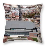 Intrust Bank Arena And Old Town Wichita Throw Pillow