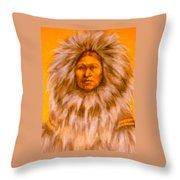 Inuit Woman Throw Pillow