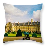 Invalides Paris France Throw Pillow