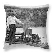 Inventor Of First Snowmobile Throw Pillow
