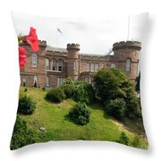 Inverness Castle On The Hill Throw Pillow