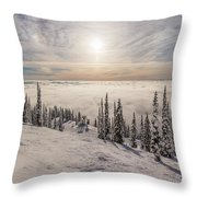 Inversion Sunset Throw Pillow