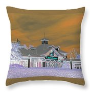Invert Of The Apple Barn's Christmas Shop In Pigeon Forge Tennessee Throw Pillow