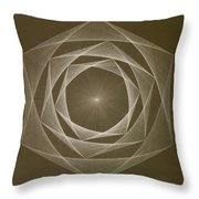 Inverted Energy Spiral Throw Pillow