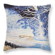 Inverted Lights At Trawscoed Aberystwyth Welsh Landscape Abstract Art Throw Pillow